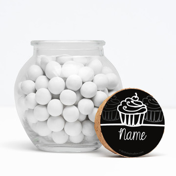 "Signature Birthday Personalized 3"" Glass Sphere Jars (Set of 12)"