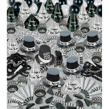 Silver Bonanza New Year's Party Kit (For 100 People)