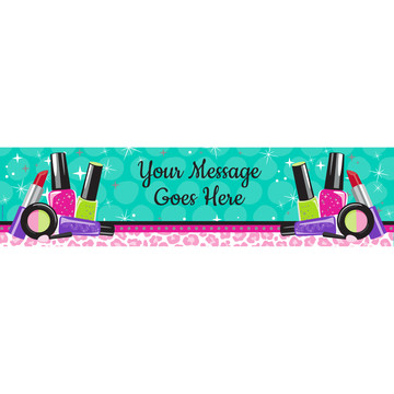 Spa Party Personalized Banner (Each)