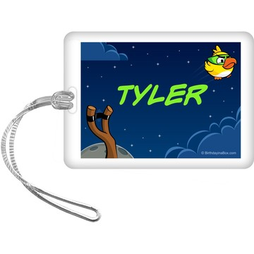 Space Birds Personalized Bag Tag (Each)