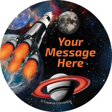 Space Blast Personalized Stickers (Sheet of 12)