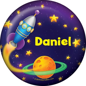 Space Personalized Button (Each)
