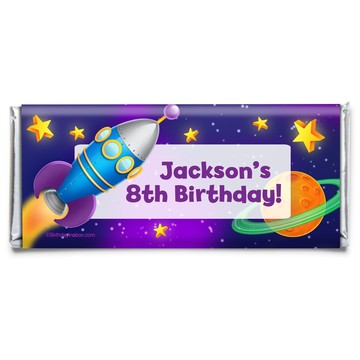 Space Personalized Candy Bar Wrapper (Each)