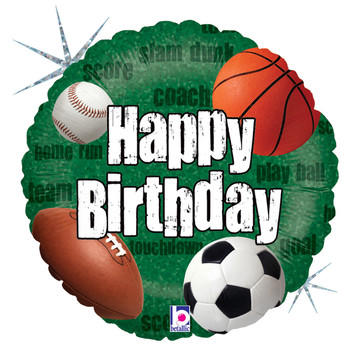 "Sports Birthday 18"" Balloon (1)"