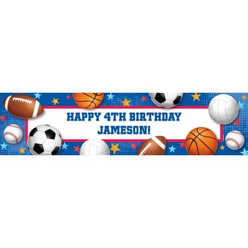 Sports Birthday Personalized Banner (Each)