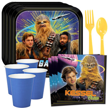 Star Wars Hans Solo Standard Tableware Kit (Serves 8)