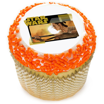"Star Wars Rey 2"" Edible Cupcake Topper (12 Images)"