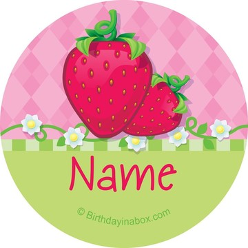 Strawberry Friends Personalized Mini Stickers (Sheet of 24)