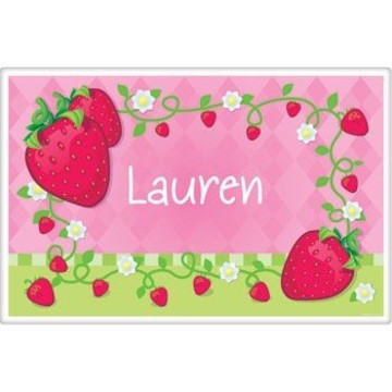 Strawberry Friends Personalized Placemat (each)