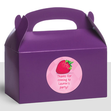 Strawberry Friends Personalized Treat Favor Boxes (12 Count)