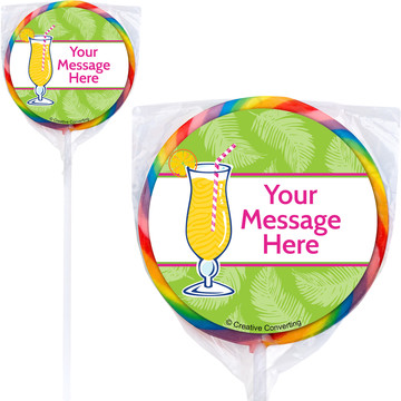 Summer Drinks Personalized Lollipops (12 Pack)