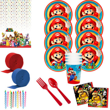 Super Mario Party Deluxe Tableware Kit (Serves 8)