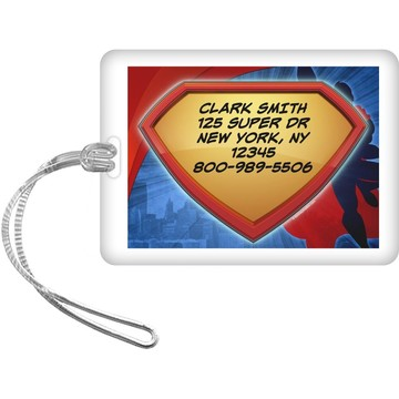 Super Superhero Personalized Luggage Tag (Each)