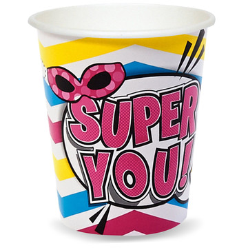 Superhero Girl 9 oz. Paper Cups