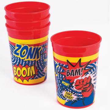 Superhero Plastic Cups (4)