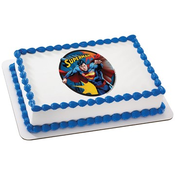 Superman Quarter Sheet Edible Cake Topper (Each)