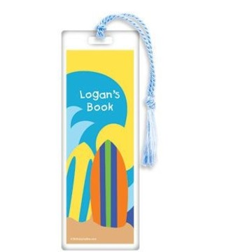 Surfer Dude Personalized Bookmark (each)