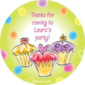 Sweet Celebration Personalized Stickers (sheet of 12)