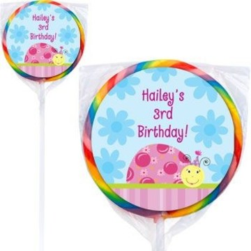 Sweet Ladybug Personalized Lollipops (pack of 12)