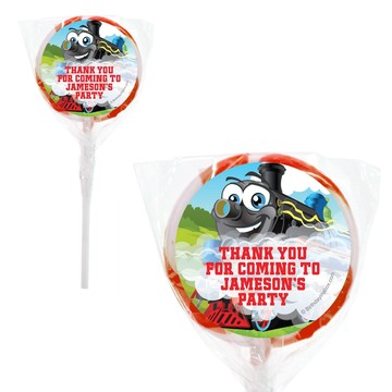 Tank Engine Personalized 2#34; Lollipops (20 Pack)