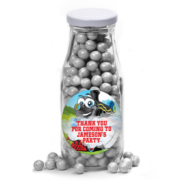 Tank Engine Personalized Glass Milk Bottles (10 Count)