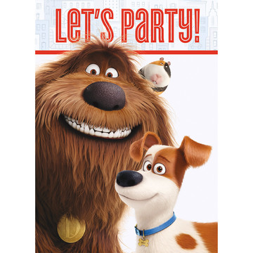 The Secret Life of Pets Invitations (8 Count)