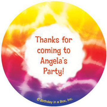 Tie Dye Fun Personalized Stickers (sheet of 12)