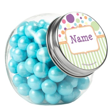 Tiny Bundle Neutral Personalized Plain Glass Jars (10 Count)
