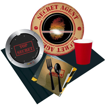 Top Secret Spy 24 Guest Party Pack