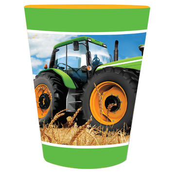 Tractor Time 16 oz Plastic Favor Cup
