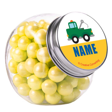 Traffic Jam Personalized Plain Glass Jars (10 Count)