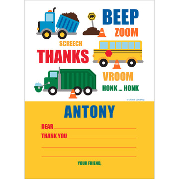 Traffic Jam Personalized Thank You (Each)