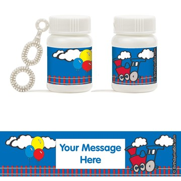 Train Party Personalized Bubbles (18 Pack)