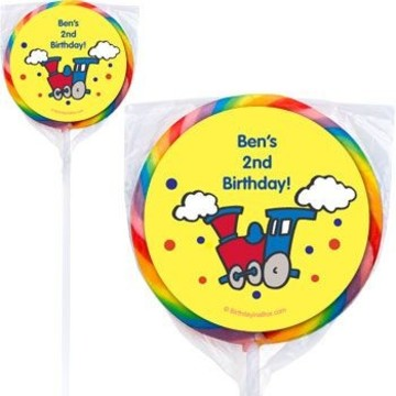 Train Party Personalized Lollipops (pack of 12)