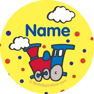 Train Party Personalized Mini Stickers (Sheet of 20)