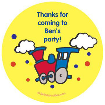 Train Party Personalized Stickers (sheet of 12)