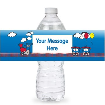 Train Personalized Bottle Labels (Sheet of 4)