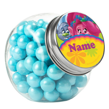 Trolls Party Personalized Plain Glass Jars (10 Count)