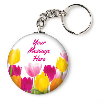 "Tulips Personalized 2.25"" Key Chain (Each)"
