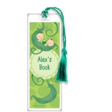 Twin's 1st Birthday Personalized Bookmark (each)