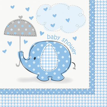 Umbrellaphants Blue Lunch Napkins (16 Count)