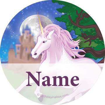 Unicorn Fantasy Personalized Mini Stickers (Sheet of 20)