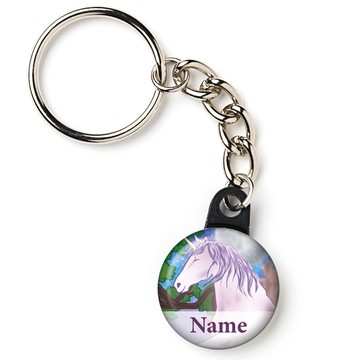 "Unicorn Fun Personalized 1"" Mini Key Chain (Each)"