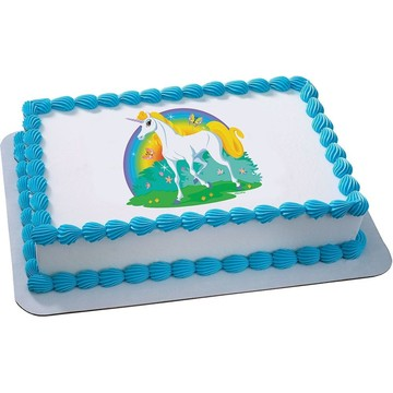 Unicorn Quarter Sheet Edible Cake Topper (Each)