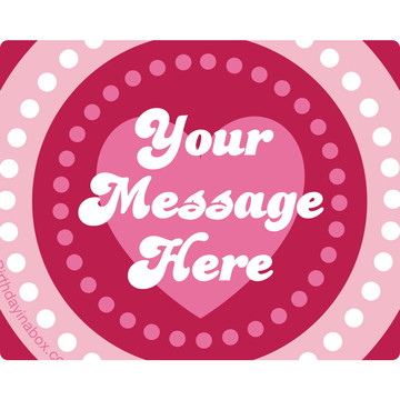 Valentine Hearts Personalized Rectangular Stickers (Sheet of 15)