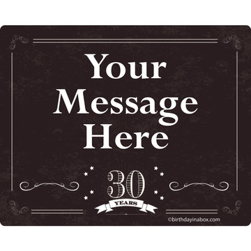Vintage Dude 30 Personalized Rectangular Stickers (Sheet of 15)