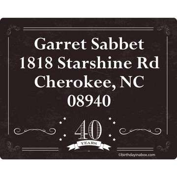 Vintage Dude 40 Personalized Address Labels (Sheet of 15)