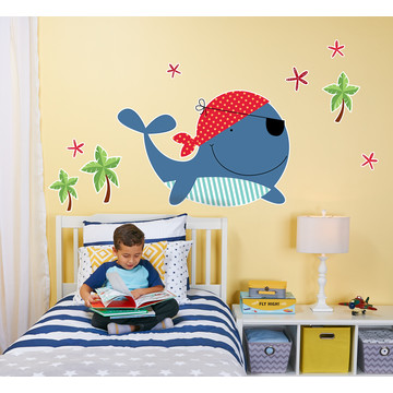 Whale Home Room Decor Removable Wall/Locker/Door/Decal Kids/Children