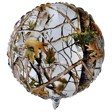 "White Camo 18"" Balloon (Each)"