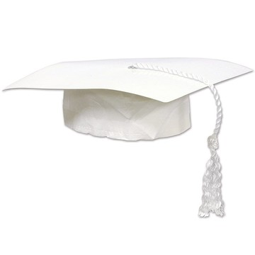 White Graduation Cap (Each)